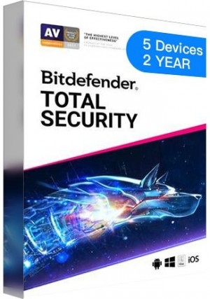 Bitdefender Total Security - 5 Devices - 2 Years