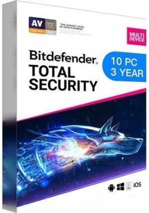 Bitdefender Total Security Multi Device / 10 Devices (3 Years)