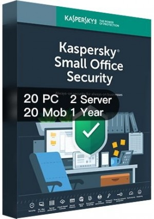 Kaspersky Small Office Security Version 7 / 20PCs + 20Mobs + 2Servers  + 20 Password Managers (1 Year)